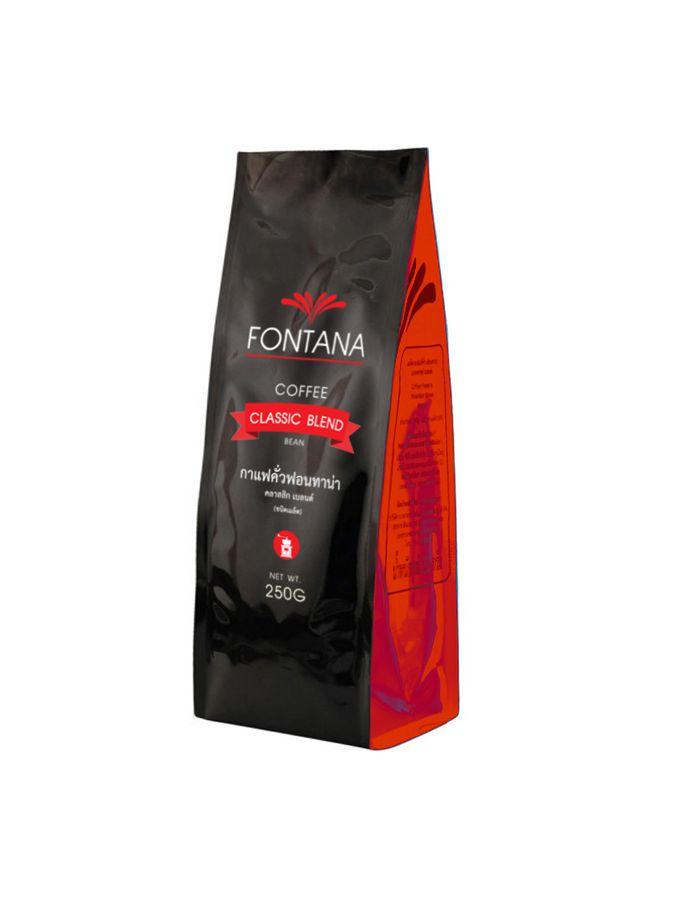เมล็ดกาแฟคั่ว Fontana Coffee Classic Blend (Beans) 250g