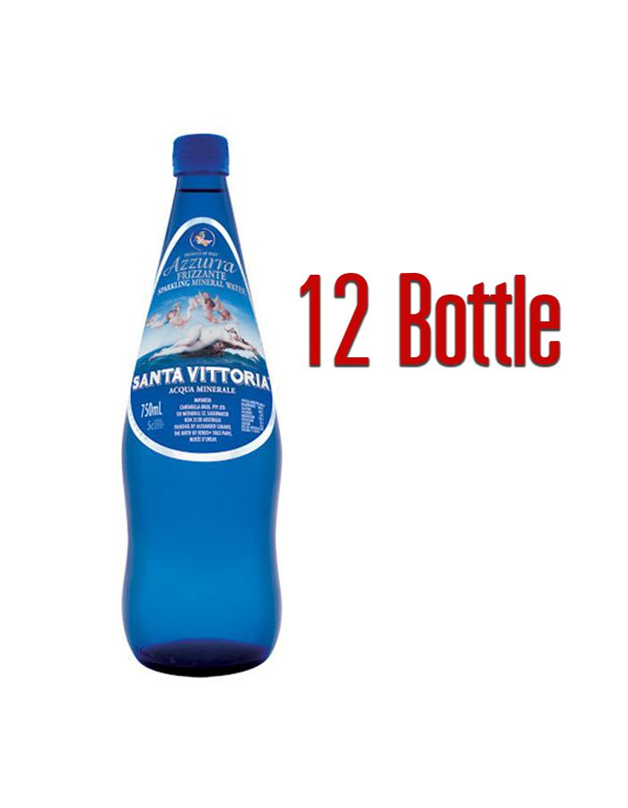 (Buy 2 get 1) Santa Vittoria Azzura Mineral Sparkling 750ml / 12 Bottle
