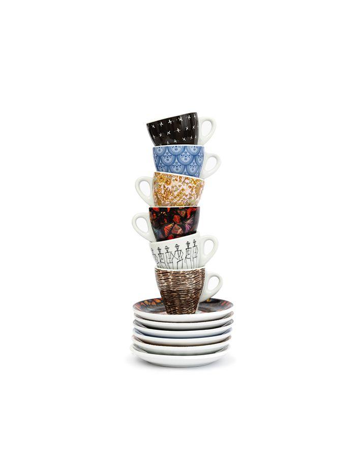 Viitoria Fashion Series Espresso Cups & Saucers (6 set/box)